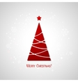 Merry Christmas tree greeting card Paper design vector image vector image