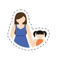 mother daughter together family members vector image vector image