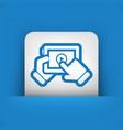 multimedia player icon vector image vector image