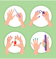 nail service collection banner vector image