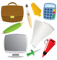 office object set vector image vector image