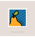 Pear stamp Harvest Thanksgiving vector image vector image