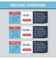 pricing table for website vector image