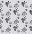 seamless pattern of grape vector image vector image