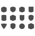Set of vintage frames shapes and forms for logo vector image