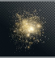 shiny gold particles light effect vector image