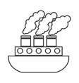 ship boat vehicle isolated icon vector image vector image