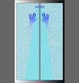 shower hands vector image vector image