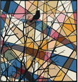 Songbird mosaic vector image vector image