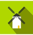 Spanish windmill icon flat style vector image vector image