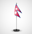 Table flag of Nepal vector image vector image
