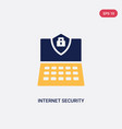 two color internet security icon from ultimate vector image vector image