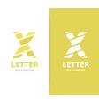 unique letter x logo design template vector image vector image