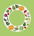vegetables fresh ingredients diet vector image vector image