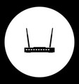 wireless conputer network router simple black vector image vector image