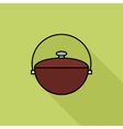 Pot flat icon vector image