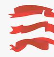 red ribbons horizontal vector image