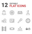 12 entertainment icons vector image vector image