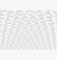 3d realistic geometric symmetry white and gray vector image vector image