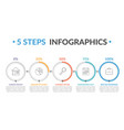 5 steps infographics vector image vector image