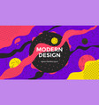 abstract retro art banner design with liquid shape vector image