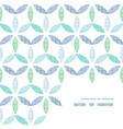 Abstract textile blue green leaves frame corner vector image vector image
