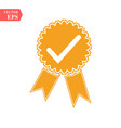 approved or certified medal icon orange color vector image