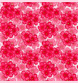 beautiful seamless pattern with pink flowers vector image