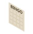 bingo card icon isometric 3d style vector image