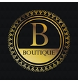 Boutique gold emblem design vector image