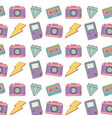 camera game boy lighting background vector image