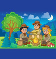 children scouts theme image 2 vector image vector image