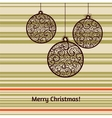 Christmas card with fir tree decorations vector image vector image