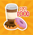 coffee and donuts menu vector image