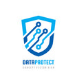 date protection - logo abstra vector image vector image