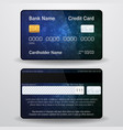 detailed realistic credit card front and back vector image