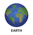 earth planet icon realistic style vector image
