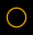 eclipse solar total sun eclipse moon planet vector image