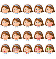 faces-emotions-03 vector image