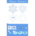 flowers from paper in water vector image vector image