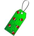 green gift tag vector image vector image