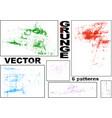 grunge patterns set vector image