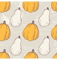 Hand drawn halloween seamless pattern with white vector image