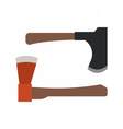 Handle Axe Set vector image