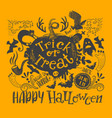 horizontal halloween lettering quote vector image vector image