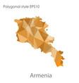 isolated icon armenia map polygonal geometric vector image vector image