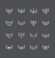 linear web icons set - wing concept collection vector image vector image
