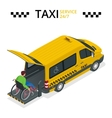 Minibus for physically disabled people Taxi or vector image