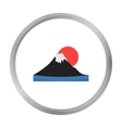 Mount Fuji icon in cartoon style isolated on white vector image