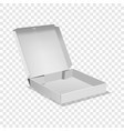opened box icon realistic style vector image vector image